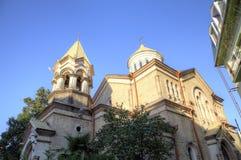 Église apostolique arménienne de Surb Kristos Amenaprkachekheci d'église du Christ saint du sauveur photographie stock libre de droits