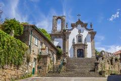 Église au centre historique de Ponte De Lima photo stock