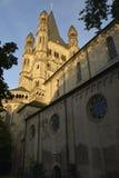 Église au coucher du soleil Image libre de droits