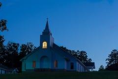 Église au crépuscule Photographie stock