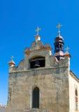 Église avec la cloche Images stock