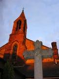 Église avec la croix Photo stock