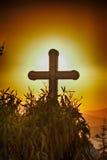 Église avec la croix Photographie stock libre de droits