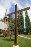 Église avec la croix en Argentine Image libre de droits
