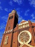 Église avec le ciel bleu Photos libres de droits