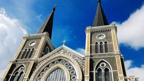 Église avec le ciel bleu Image stock