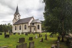 Église avec le cimetière de Torpo Image stock