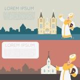 Église banner3 de Catolic Illustration Libre de Droits