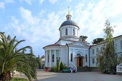 Église baptismale de l'icône ibérienne de la mère de Dieu dans Photos stock