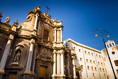 Église baroque à Palerme, Italie Photographie stock libre de droits