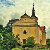 Église baroque dans la République Tchèque en Europe est photographie stock