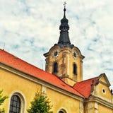 Église baroque dans la République Tchèque en Europe est image stock