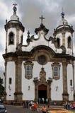 Église baroque Sao Joao del Rei de Carmo photos stock