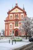 Église baroque St Mary, Brandys NAD Labem Stara Boleslav Photographie stock