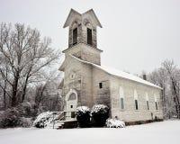 Église battue vieux par temps, Michigan Etats-Unis Image stock