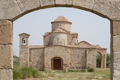 Église bizantine du 6ème siècle de Panayia Kanakaria, Lytrhrangomi, Chypre Photographie stock