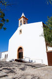 Église blanche d'Ibiza dans Joan sant de Labritja photo libre de droits