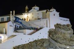 Église blanche dans Skopelos Image stock