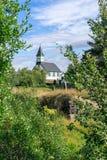 Église blanche dans Thingvellir Photo libre de droits