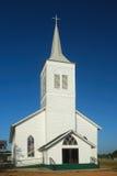 Église blanche de pays Photo libre de droits