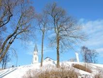 Église blanche, Lithuanie Photo stock