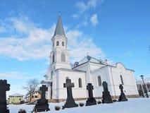 Église blanche, Lithuanie image stock