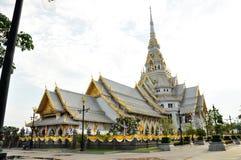 Église blanche Thaïlande de paysage Photos libres de droits