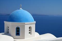 Église bleue Photographie stock