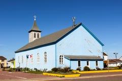 Église bleue Image libre de droits