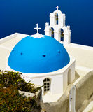 Église bleue de dôme photo stock