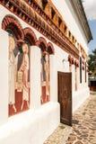 Église Brancoveanu - mur extérieur Photo stock