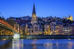 Église célèbre à Lyon Photo libre de droits