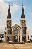 Église catholique à la province de Chantaburi Photographie stock libre de droits
