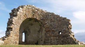 Église catholique antique Orphir Images libres de droits