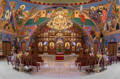 Église catholique bizantine d'annonce images stock