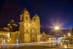 Église catholique dans Cusco, Pérou Photographie stock