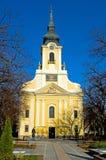 Église catholique dans Gyula Photo libre de droits