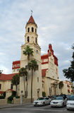 Église catholique dans la rue Augustine image libre de droits