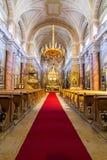 Église catholique dans la vue d'intérieur de Sibiu Image stock