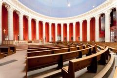 Église catholique Darmstadt de rue Ludwigs Photos stock