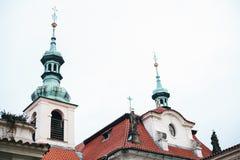 Église catholique de la nativité du seigneur Prague Loreta - un complexe des bâtiments historiques à Prague sur l'oriental Images stock