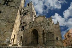 Église catholique de Medievel. Chiesa Matrice dans Erice, Sicile. Photographie stock libre de droits
