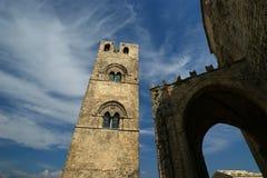 Église catholique de Medievel. Chiesa Matrice dans Erice, Sicile. Images stock