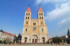 Église catholique de Qingdao photographie stock libre de droits
