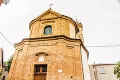Église catholique de San Silvestro dans Bertinoro en Italie Photo stock