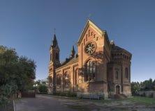 Église catholique de St Joseph dans Nikolaev, Ukraine image libre de droits