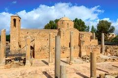 Église catholique de St Paul's dans Paphos, Chypre Photographie stock libre de droits