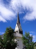Église catholique en montagne Photo stock