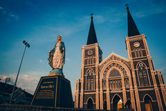 Église catholique en Thaïlande Photographie stock libre de droits