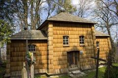 Église catholique grecque en bois Image libre de droits